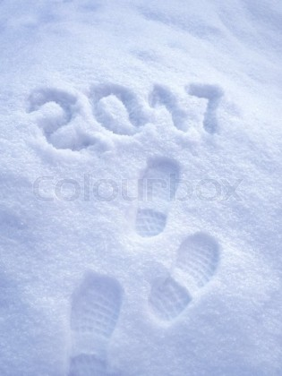 18963831-2017-new-year-greeting-card-2017-new-year-foot-step-prints-in-snow-happy-new-year-2017-concept