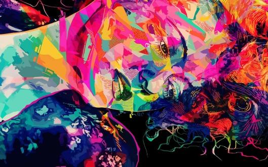 abstract-art-colour-women-face-hd-wallpaper
