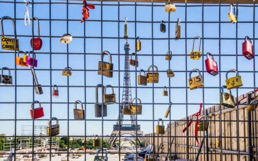 love locks at the Trocadero Paris